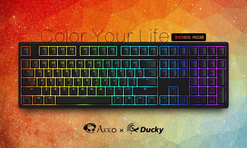 幻彩来袭Akko Ducky发布3108S Cherry RGB