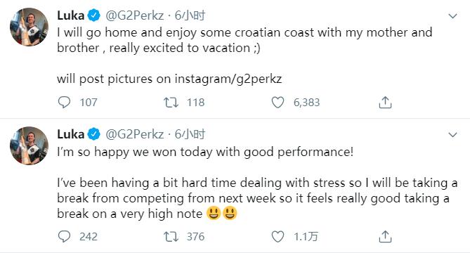 Perkz:最近很难处理压力问题,下周将会暂时告别比赛休息一周