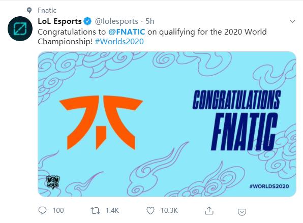 Fnatic横扫Rogue 锁定欧洲第三个世界赛名额