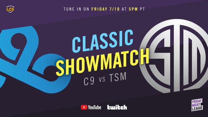LCS官宣:将在7月10日进行TSM vs C9传奇表演赛