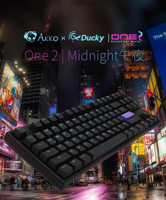 Akko Ducky发布午夜Midnight机械键盘