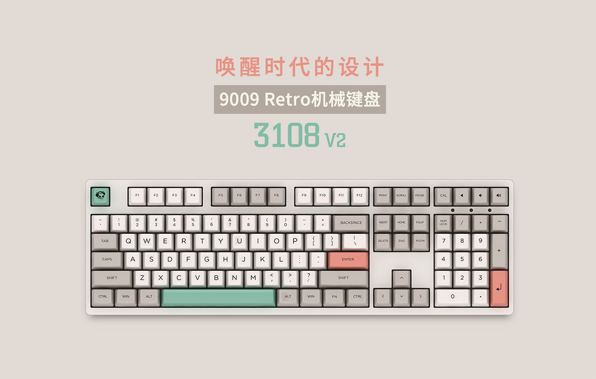 传承经典!Akko发布9009 Retro复古机械键盘