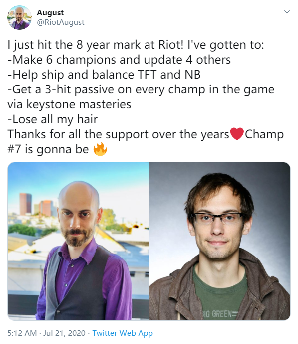 Riot设计师August:加入Riot的8年 我变秃了也变强了