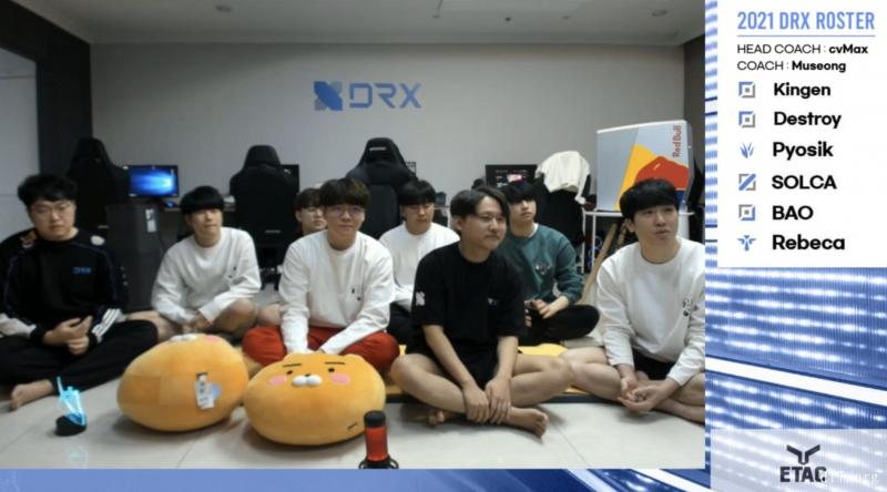 DRX新赛季阵容出炉:上单选手Kingen加入